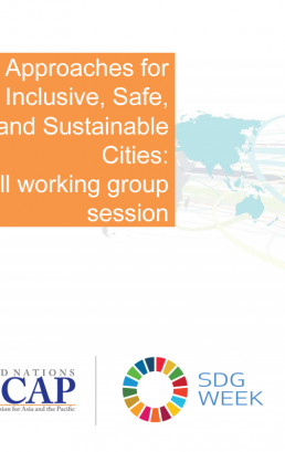 Session 6: Drawing the casual diagram for integration and localizing SDG 6 with other SDGs in cities for sustainable urban development
