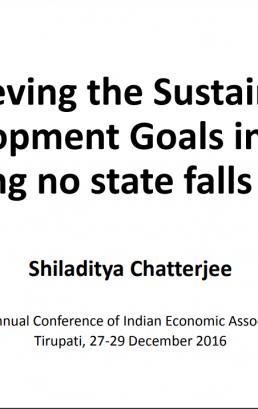 Achieving the Sustainable Development Goals in India: Ensuring no state falls behind