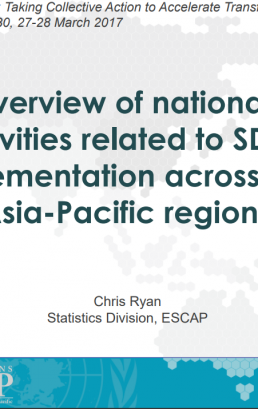 Overview of national activities related to SDG implementation across the Asia-Pacific region
